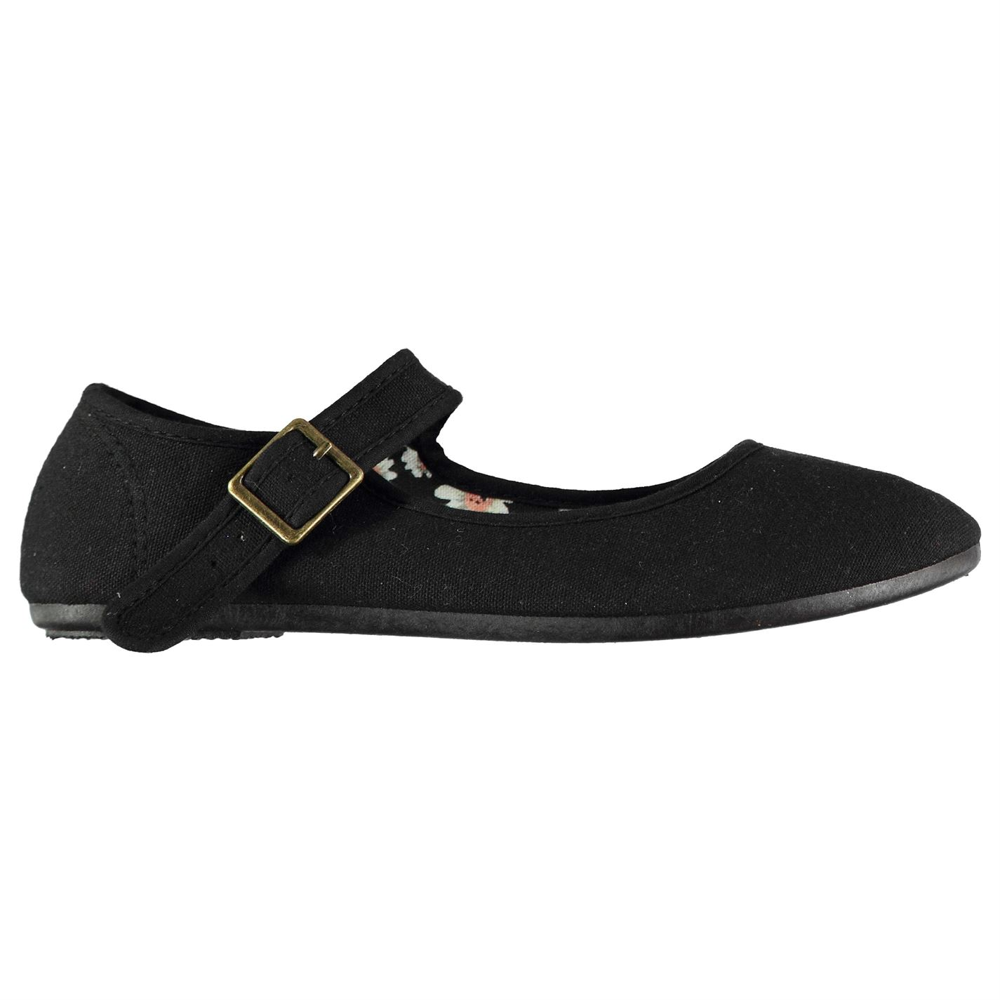 Slazenger Canvas Mary Jane Ladies Shoes Black