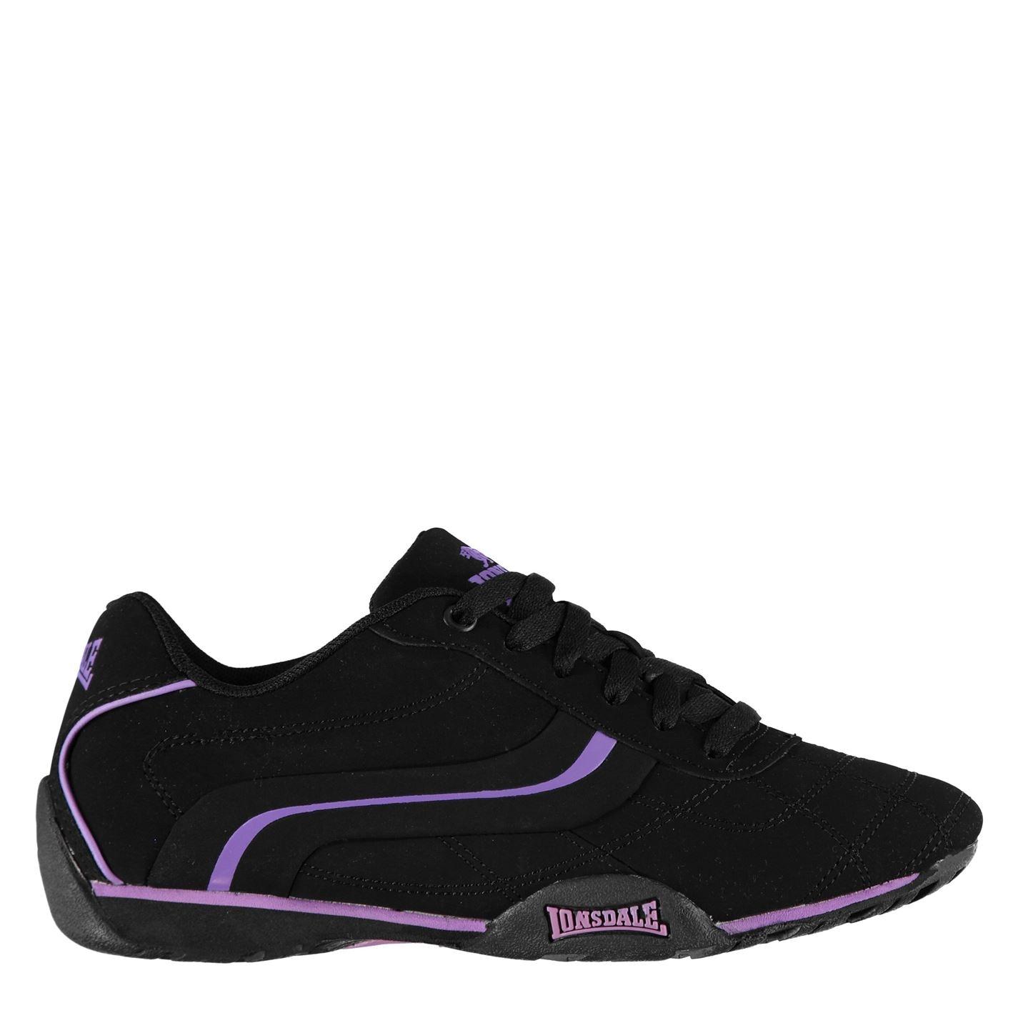 Lonsdale Camden Ladies Trainers Black Purple 3097ef864bd