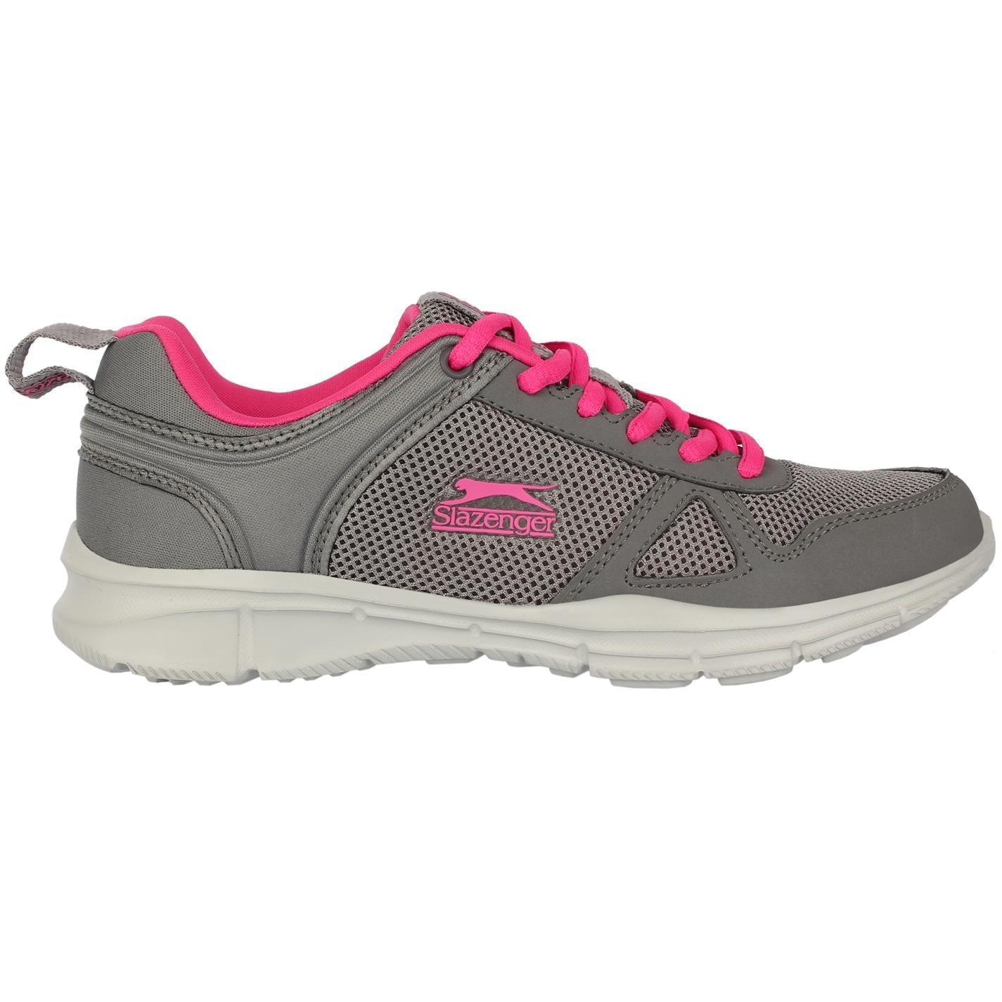 Slazenger Force Mesh dámské běžecké boty Charcoal/Pink