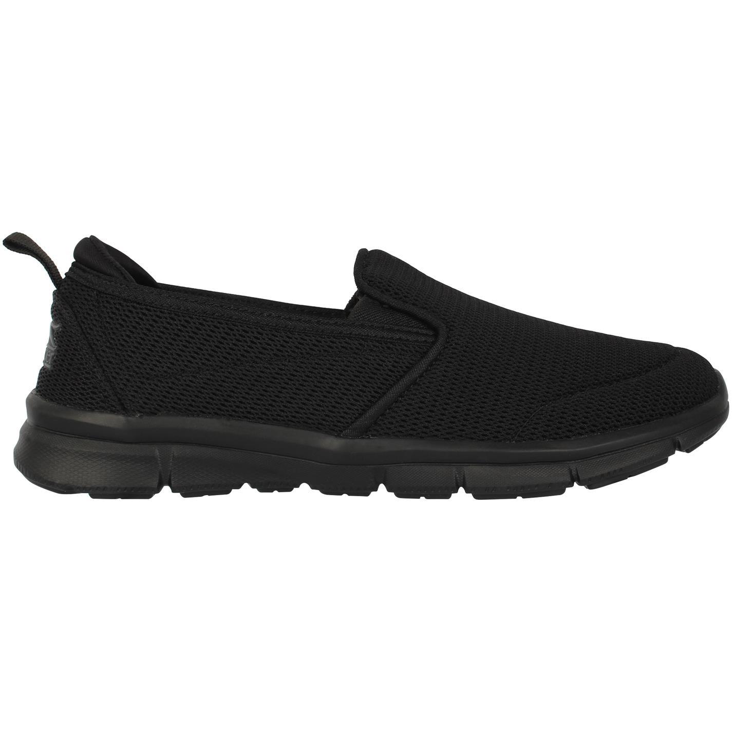 Slazenger Zeal Slip On Ladies Shoes Black Mesh