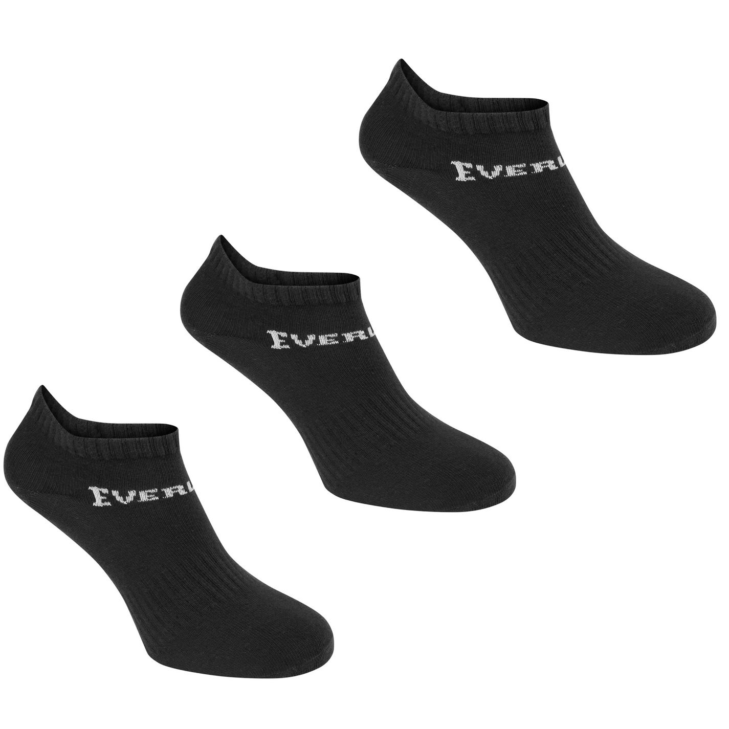 Everlast 3 Pack Trainer Socks Childrens Black