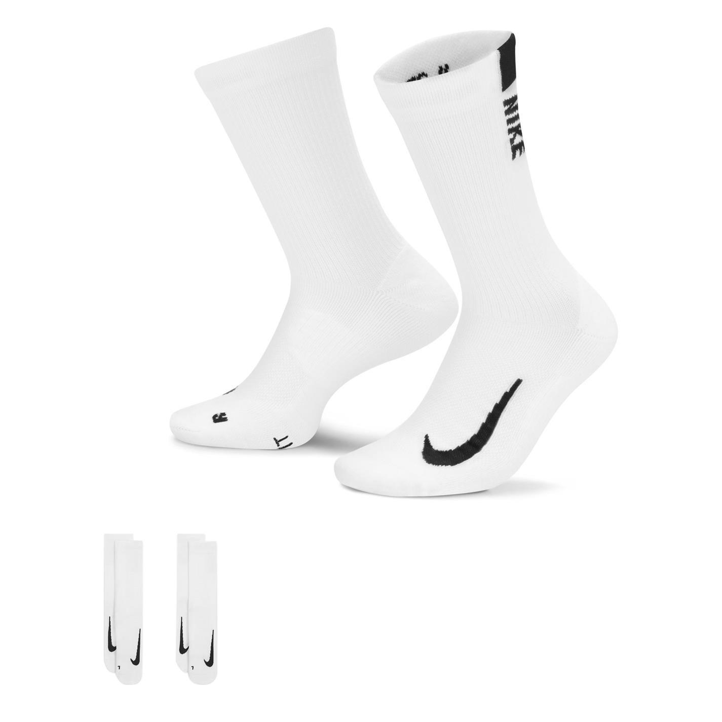Nike Multiplier Crew Running Socks Unisex Adults White/Black