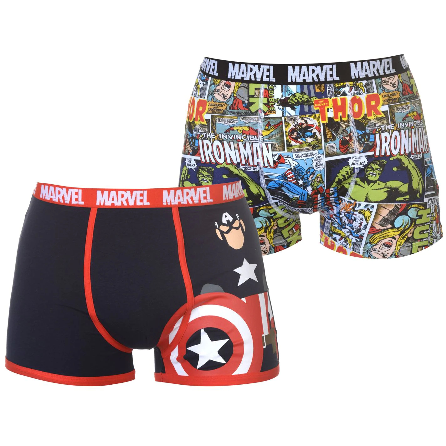 c9cb217706d Character 2 Pack Boxers Mens Marvel
