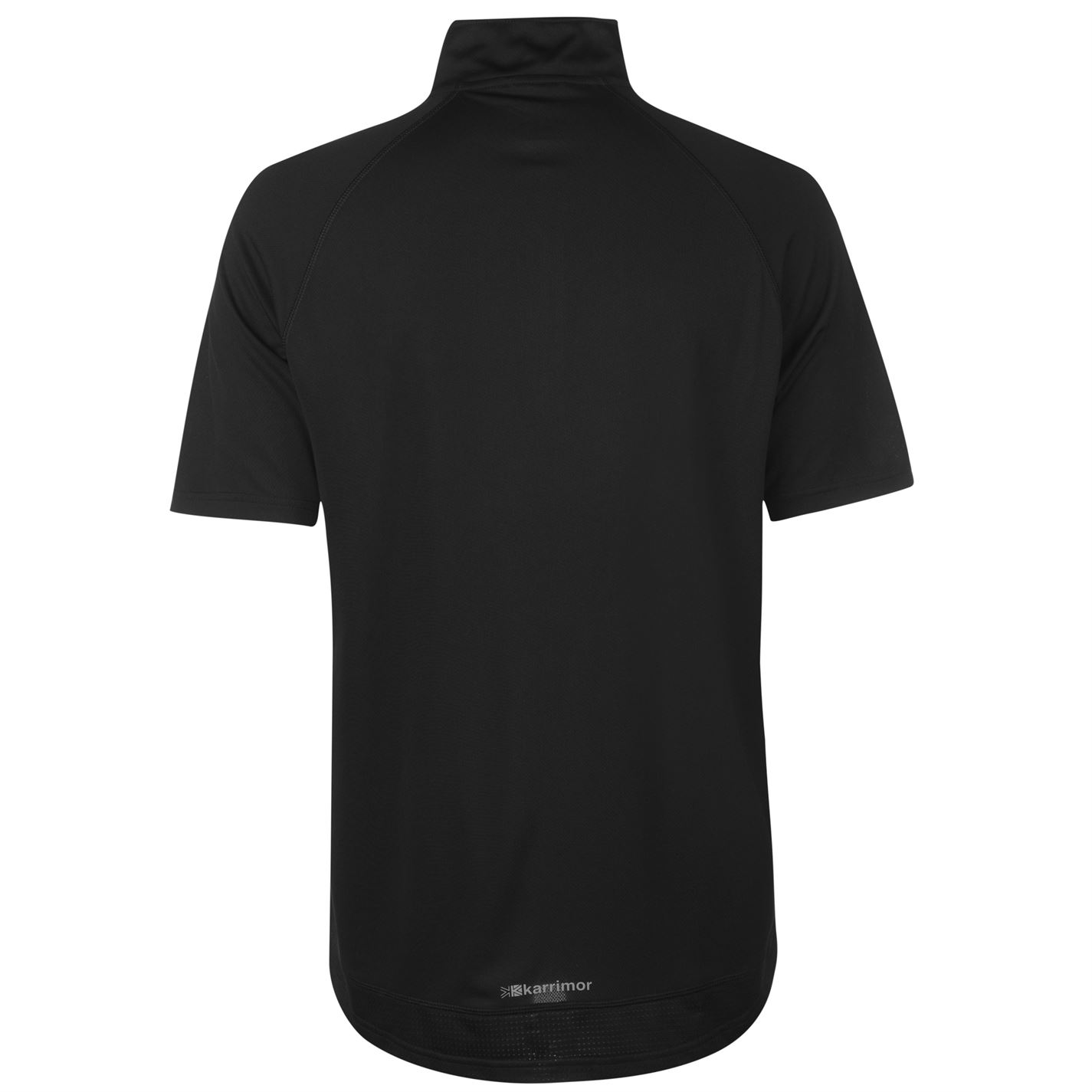 Karrimor Mens Zipped Short Sleeved T-Shirt Black