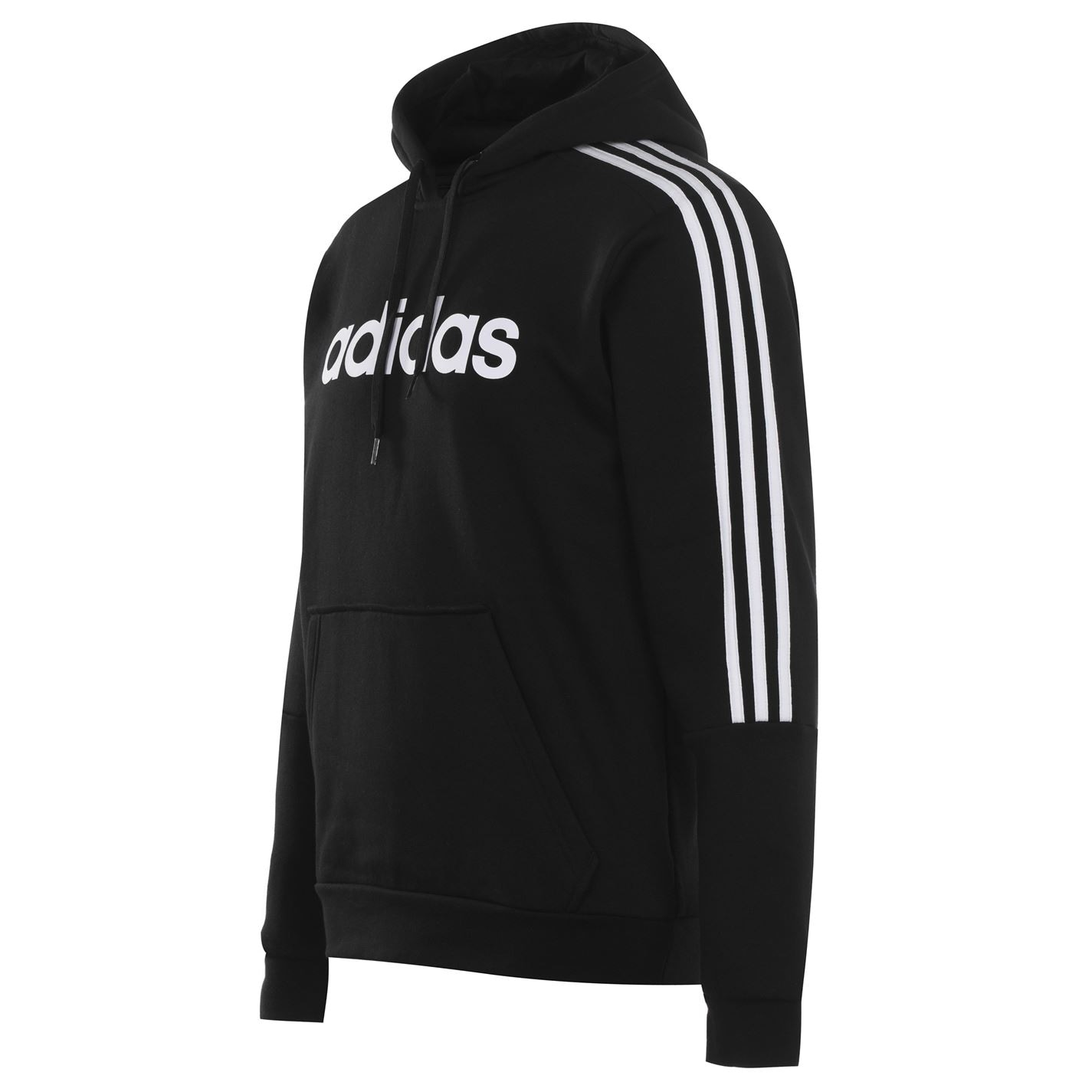 adidas 3 Stripes Logo Over The Head pánská mikina Black/White