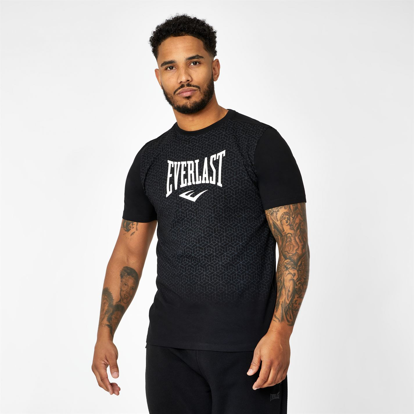 Everlast Geo Print T-Shirt Black