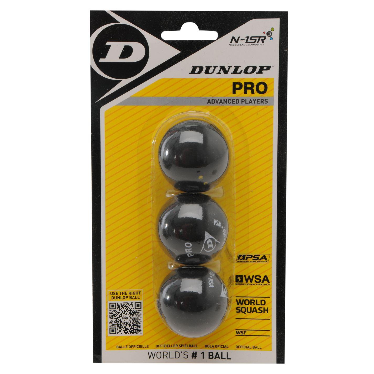 Dunlop Squash Balls Double Yellow