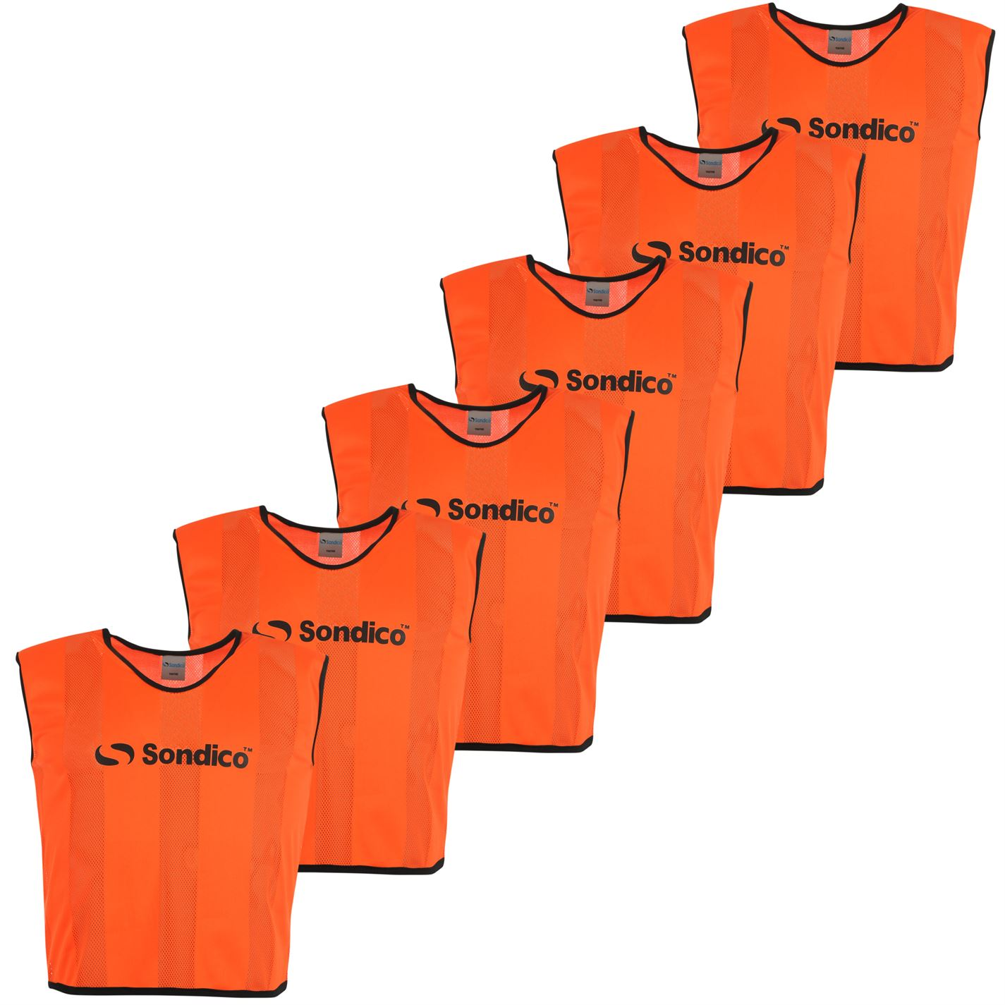 Sondico 6 Pack Mesh Bibs Fluo Orange