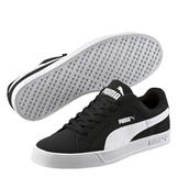 Puma Smash Vulc Trainers Mens Black/White