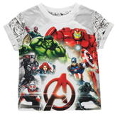 Character Short Sleeve T Shirt Boys Avengers