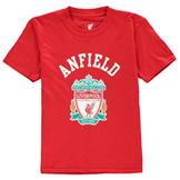 Source Lab Liverpool FC Crest T-Shirt Junior Boys Red