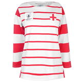 Rugby World Cup 2019 Long Sleeve T Shirt Ladies Eng White/Red