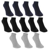 Donnay Trainer Socks 12 Pack Childrens Dark Asst