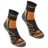 Salomon Merino Low 2 Pack Walking Socks Mens Black/Red