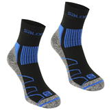 Salomon Merino Low 2 Pack Walking Socks Mens Black/Blue
