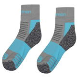 Salomon Merino Low 2 Pack Ladies Walking Socks Grey/Blue