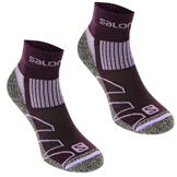 Salomon Merino Low 2 Pack Ladies Walking Socks Plum/Lila