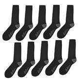 Lee Cooper 10 Pack Socks Mens Black