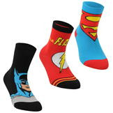 DC Comics Superman 3 Pack Crew Socks Childrens Multi