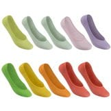 Lee Cooper 10 Pack Bamboo Invisible Socks Ladies Multi