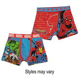 Character 2 Pack Boxers Infant Boys Marvel