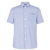 Pierre Cardin Short Sleeve Shirt Blue/White