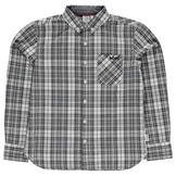 Lee Cooper Long Sleeve Checked Shirt Junior Boys Grey/Blk/White