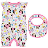 Character Short Sleeve Romper Minnie Mouse