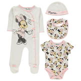 Character 4 Piece Romper Set Baby Minnie Mouse