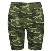 Golddigga Waisted Cycle Shorts Womens Khaki Camo