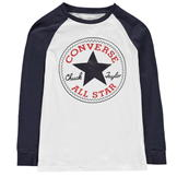 Converse Chuck Long Sleeved T Shirt Junior Boys White