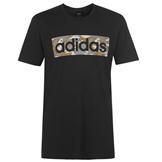 adidas Logo T-Shirt Blk/Khaki/Grey