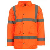 Dunlop Hi Vis Parka Mens Orange