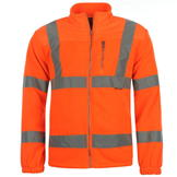 Dunlop Hi Vis Fleece Jacket Mens Orange