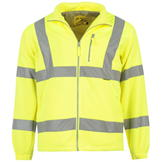 Dunlop Hi Vis Fleece Jacket Mens Yellow