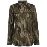 Golddigga Long Sleeve AOP Shirt Ladies Khaki Camo