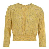 Only Long Sleeve Blouse Ladies Misted Yellow