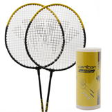 Carlton 2 Player Badminton Set Black/Yellow