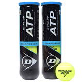 Dunlop ATP 2 Pack Tennis Balls Yellow