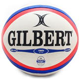 Gilbert Photon Rugby Ball White/Red