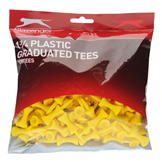 Slazenger Graduated Tees Bumper Pack Yellow 130pk