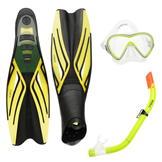 Gul Mask Snorkel and Fin Set Children Yellow