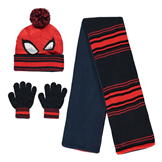 Character Knitted 3 Piece Set Childrens Spiderman