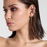 Golddigga Small Hoop Earrings Ladies Silver