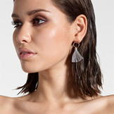 Firetrap Tassel Earrings Ladies Rose Gold